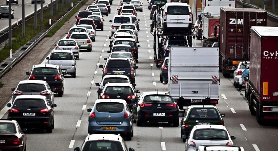Siden 2010 er trafikken på de danske motorveje steget med knap 25 procent.