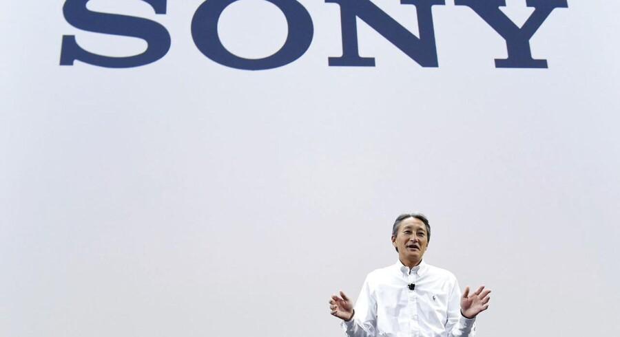 Der er større smil om munden på Sonys topchef, Kazuo Hirai, end tidligere, efter at koncernen nu har fået styr på sin økonomi og kan koncentrere sig om at være kreativ. Foto: Rainier Jensen, EPA/Scanpix