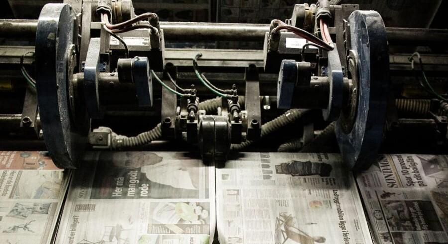 De gamle medier har fortsat en plads i danskernes nyhedsbillede. Foto fra BTs trykkeri i Slagelse.