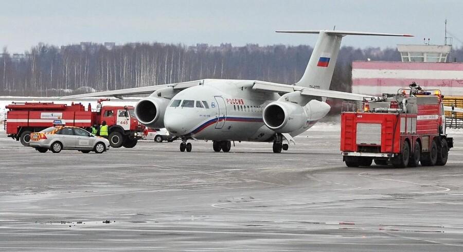 Flyet er tilsyneladende et Antonov An-148 som dette. Arkivfoto.
