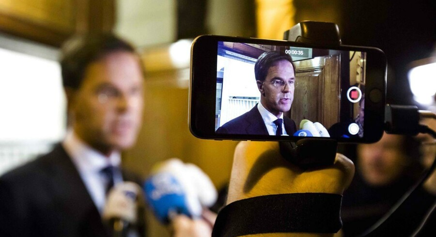 Hollands fungerende premierminister. AFP PHOTO / ANP / Bart Maat / Netherlands OUT