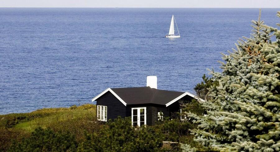 Sommerhus ved Vejby Strand. Arkivfoto.
