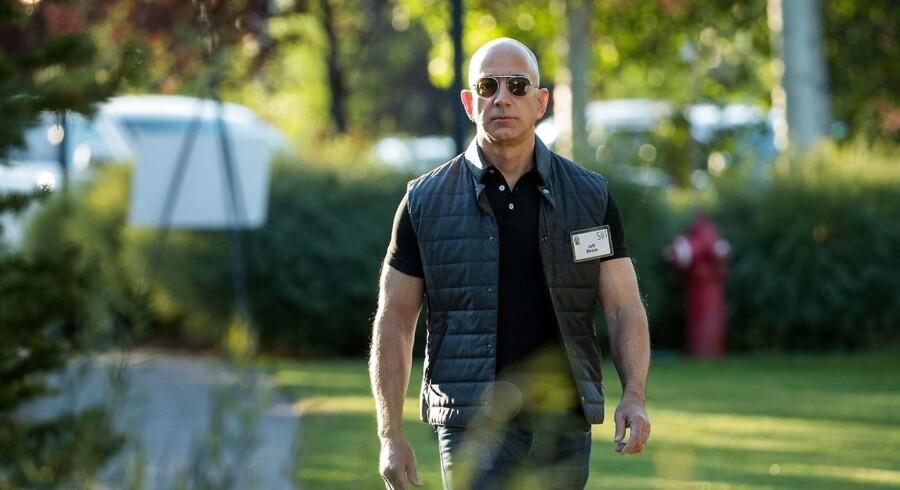 SUN VALLEY, ID - JULY 13: Jeff Bezos, chief executive officer of Amazon.