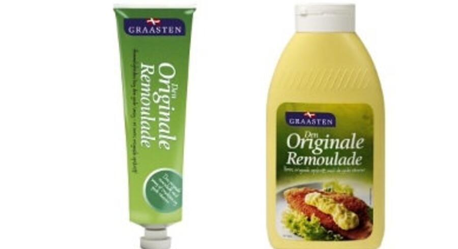 Graasten Salater må trække store mængder Remulade tilbage fra markedet. Free/Graasten Salater/arkiv