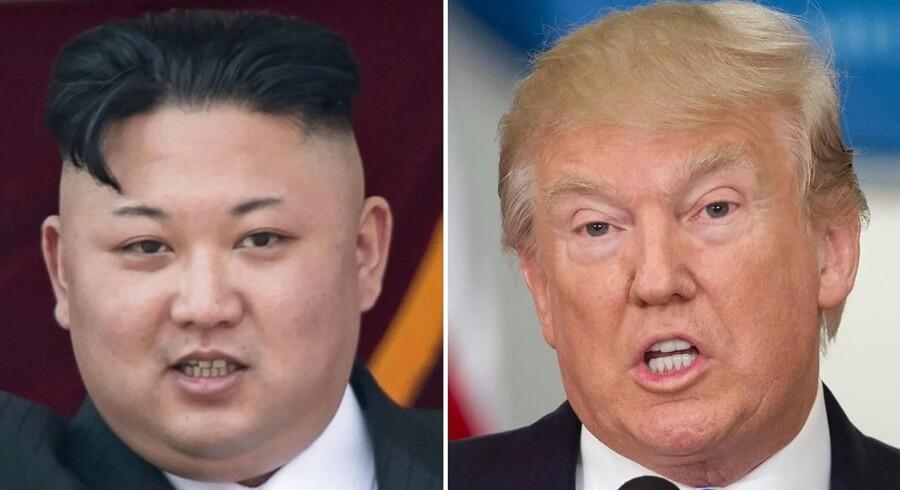 Donald Trump og USA truer Nordkorea og Kim Jong-Un med »ild og raseri«, hvis nordkoreanerne fortsætter med deres atomtrusler mod USA.