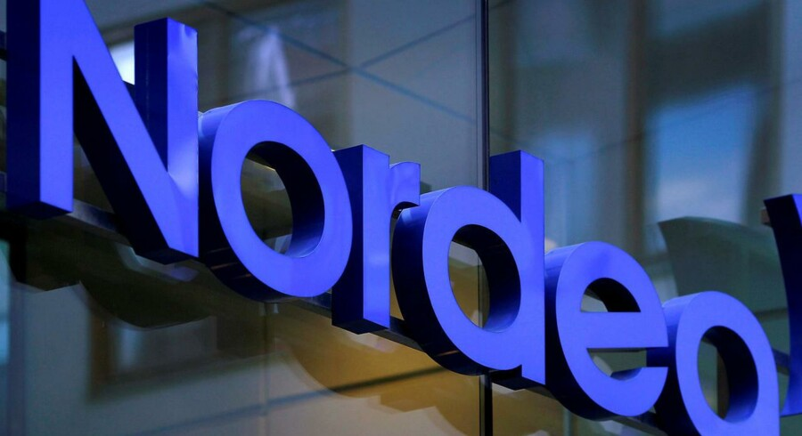FILE PHOTO: The Nordea bank logo is seen outside their corporate headquarters in Stockholm, Sweden, February 2, 2011. REUTERS/Bob Strong/File Photo