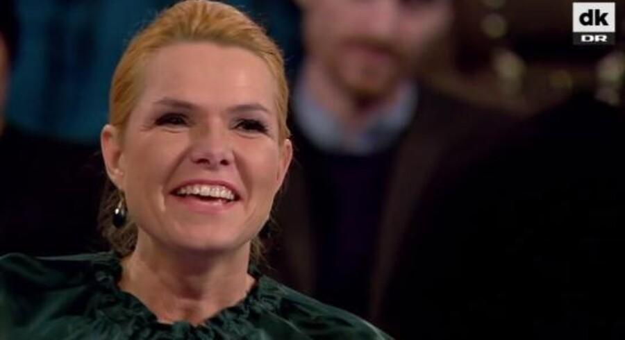 Screenshot fra »Hva' nu minister: Inger Støjberg i stolen«, der blev sendt torsdag aften på DR1.