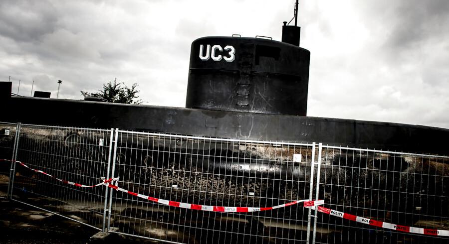 ARKIVFOTO 20170911 Peter Madsen's ubåd UC3 Nautilus i politiets varetægt bag hegn i Nordhavnen i København mandag den 11. september 2017. . (Foto: Mads Claus Rasmussen/Scanpix 2017)