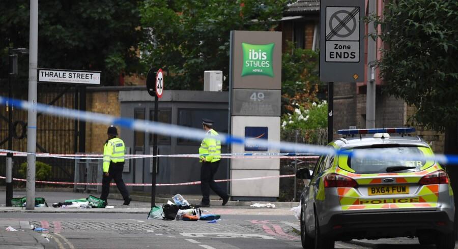 Syv mennesker blev dræbt under et attentat i Storbritanniens hovedstad, London, lørdag aften. Scanpix/Chris J Ratcliffe