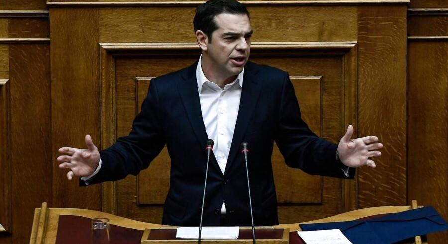 Arkivfoto. Den græske premierminister, Alexis Tsipras.