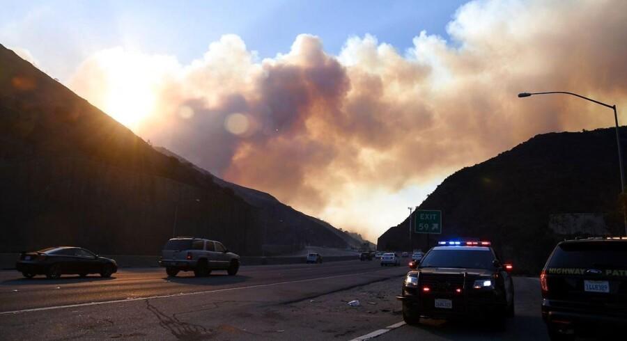 Brandmænd kæmper med flere store skovbrande i den amerikanske delstat Californien. / AFP PHOTO / Robyn Beck