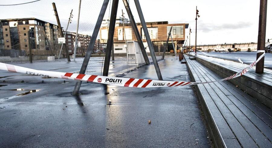 Gerningsstedet på Havnefronten i Aalborg hvor en 19-årig norsk pige nytårsnat blev voldtaget, ses her tirsdag den 2. januar 2018.