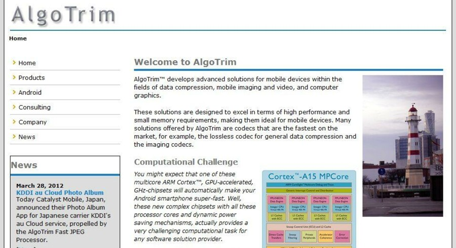 Det svenske softwareselskab Algotrim er en del af Apple-koncernen.