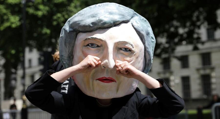 Theresa May-maske dagen derpå