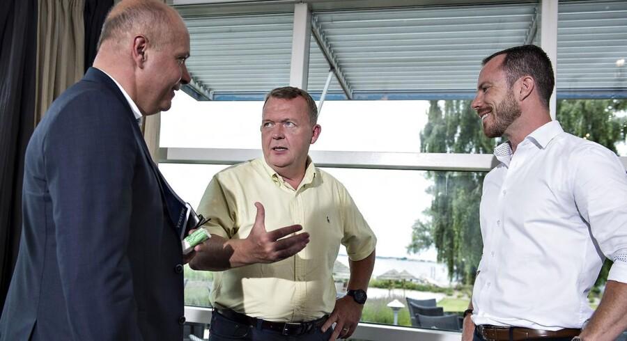 Arkivfoto: DF støtter Lars Løkke som statsminister efter næste valg, siger politisk ordfører Jakob Ellemann-Jensen (th.).