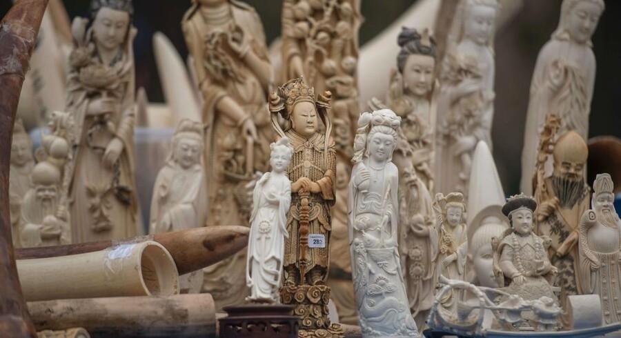 Arkivfoto: Kina vil lukke en række elfenbensfabrikker.