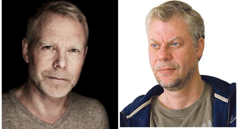 Steffen Jacobsen (tv) kritiserer Morten Kirkskov for i sit essay at være pueril, begrebsforvirret og tøsefornærmet.
