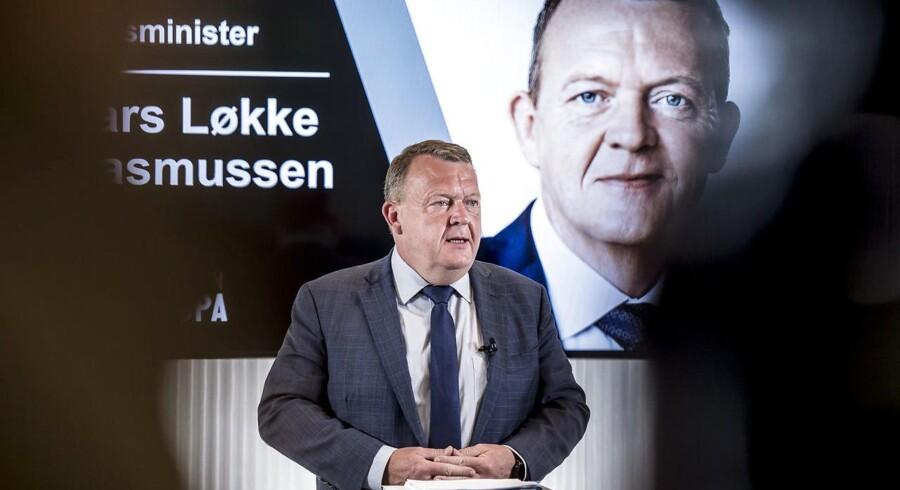 Statsminister Lars Løkke Rasmussen taler på Europadagen i onsdags ved et møde arrangeret af Tænketanken EUROPA .