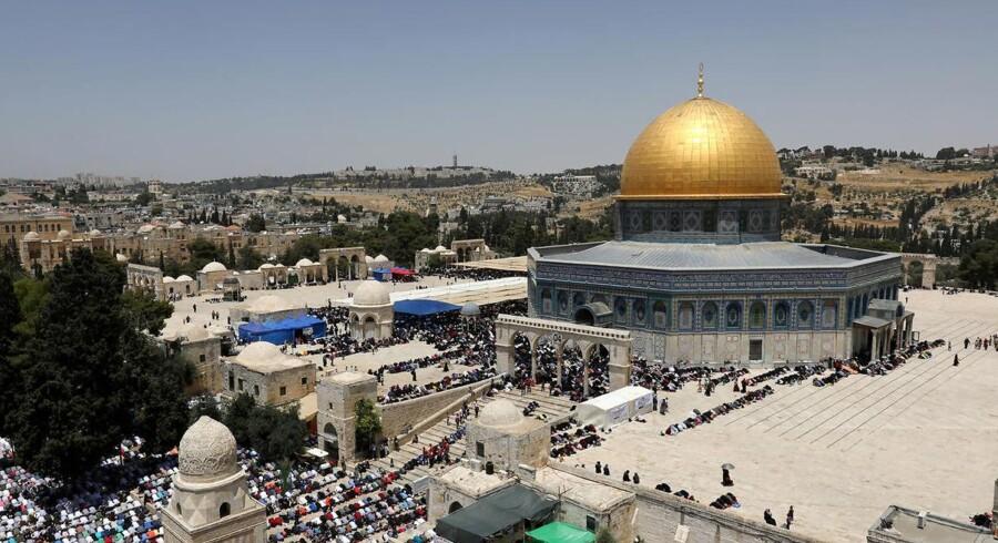 Arkivfoto. Ifølge politiet i den israelske by er der flere dræbte efter et skyderi tæt ved Tempelbjerget.