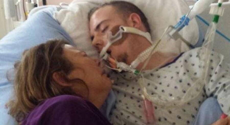 Lægerne gjorde plads til, at Sherri Kent kunne ligge i hospitalsengen med sin søn, inden han døde.