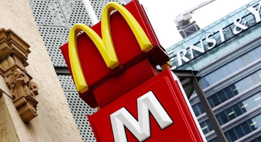 McDonald's har netop offentliggjort årsregnskab for årets første måneder.