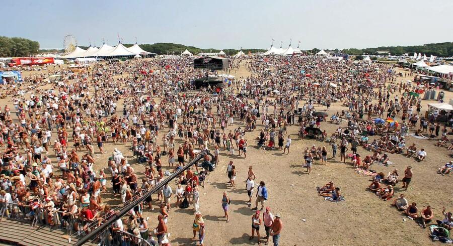 Arkivfoto fra Langelandsfestival, hvor der i år er blevet anmeldt flere sager om blufærdighedskrænkelser.