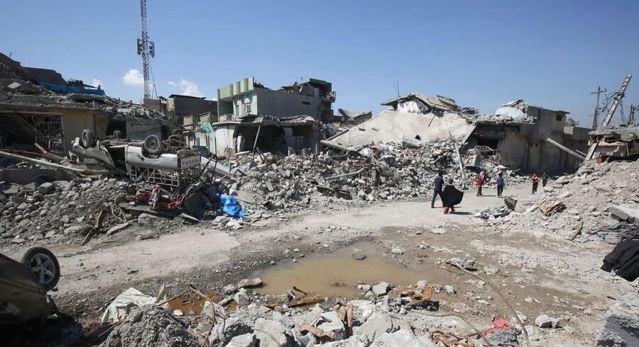 Arkivfoto. Over 40 børn meldes dræbt i luftangreb i Syrien. AFP PHOTO / AHMAD AL-RUBAYE