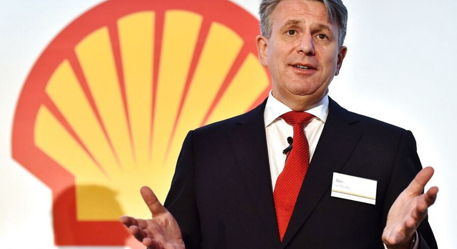 Shells topchef, Ben van Beurden, på en pressekonference i London. Foto: Ben Stansall/AFP
