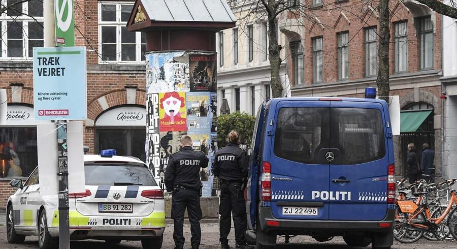 For ottende gang forlænger politiet visitationszonen, der blev oprettet i sommer i København. (Foto: Johan Nilsson / TT/Scanpix 2017)