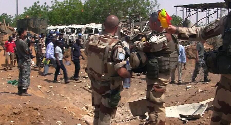 FN's fredsbevarende mission i Mali regnes for at være den farligste lige nu, og flere soldater har mistet livet. Scanpix/Str