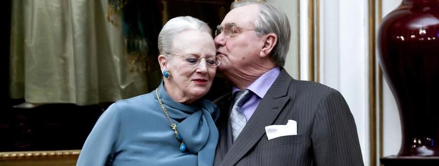 Dronning Margrethe og Prins Henrik til pressemøde tirsdag d. 10. januar på Amalienborg i Christian IX's Palæ i anledning af 40 års jubilæet.