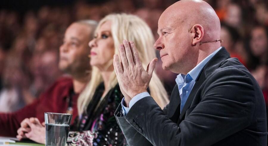 Dommerne - Remee, Sanne og Blachmann. X Factor 11, liveshow 6 i DR Byen fredag den 30. marts 2018.