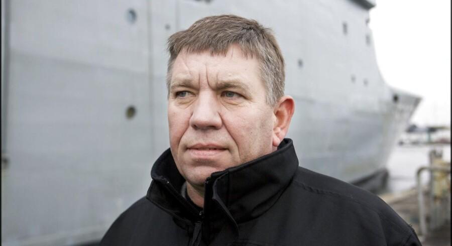 Arkivfoto: Administrerende direktør i Karstensens Skibsværft A/S Knud Degn Karstensen har ingen viden om, at nordkoreanske arbejdere skulle have været med til at bygge Forsvarets nye krigsskib.