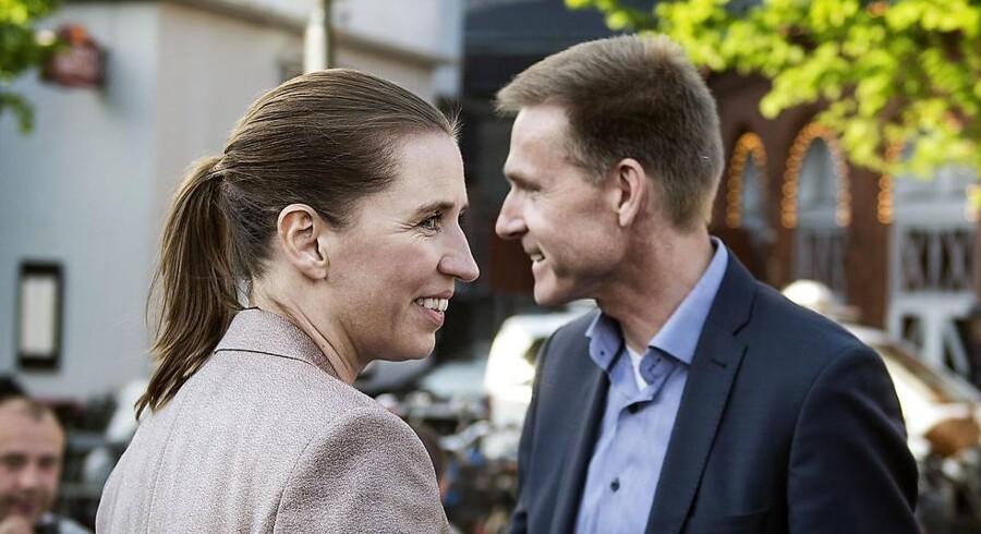 Mette Frederiksen (S) og Kristian Thulesen Dahl (DF) deltog forleden i etager i topmød sammen med 3F. Foto: Liselote Sabroe