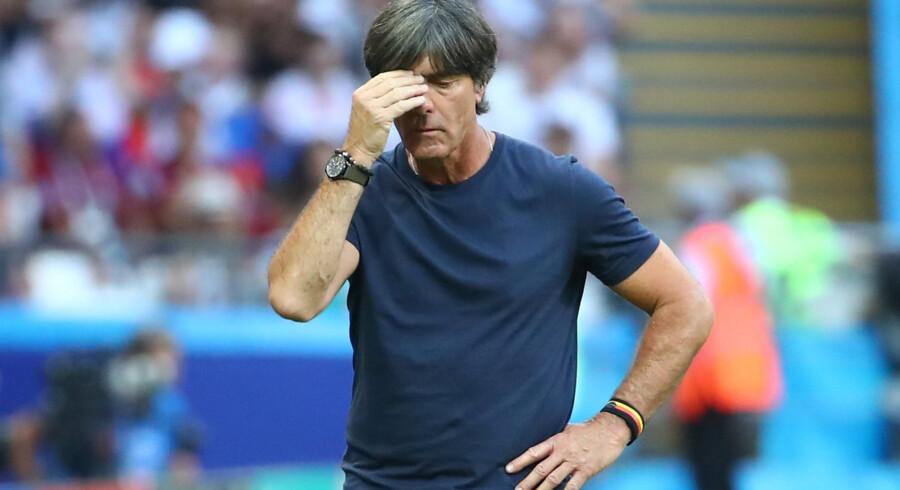 Den tyske landstræner Joachim Löw fik før VM forlænget sin kontrakt som landstræner til 2022. Michael Dalder/Reuters