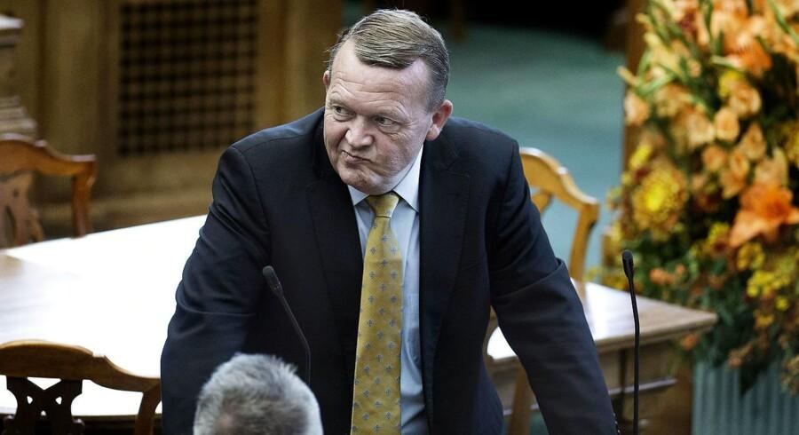 Lars Løkke Rasmussen til åbningsdebat i folketingssalen