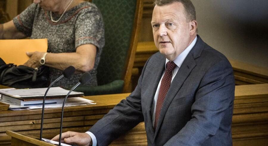 Arkivfoto: Da Løkke for et år siden indtog talerstolen til Folketingets åbning, var han mere end bare almindeligt parlamentarisk trængt.