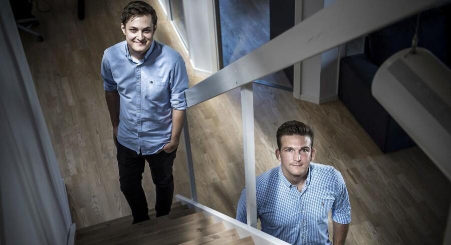 Kristian Larsen (TV) og Mads Paaskesen (TH) fra PL & Partners Facebook-bureau.De to unge iværksættere er blevet blåstemplet af Facebook og har store brands som fx Super Brugsen på kundelisten.De hjælper virksomheder med at slå igennem på Facebook.