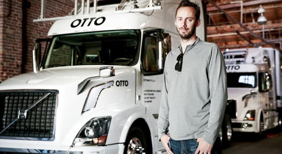 Anthony Levandowski forlod Googles selskab for selvkørende biler og stiftede sit eget for selvkørende lastbiler. Men han tog angiveligt tusinder af hemmelige dokumenter med sig og nægter at udlevere dem. Nu har Uber, som købte hans firma, fyret ham. Arkivfoto: Ramin Rahimian, The New York Times/Scanpix