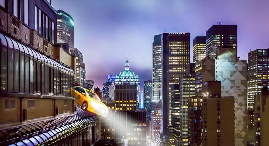 Mange deler visionen om flyvende biler. Nu har Uber ansat en NASA-ingeniør med svært megen forstand på området til at hjælpe sig med at udvikle dem. Arkivfoto: Iris/Scanpix