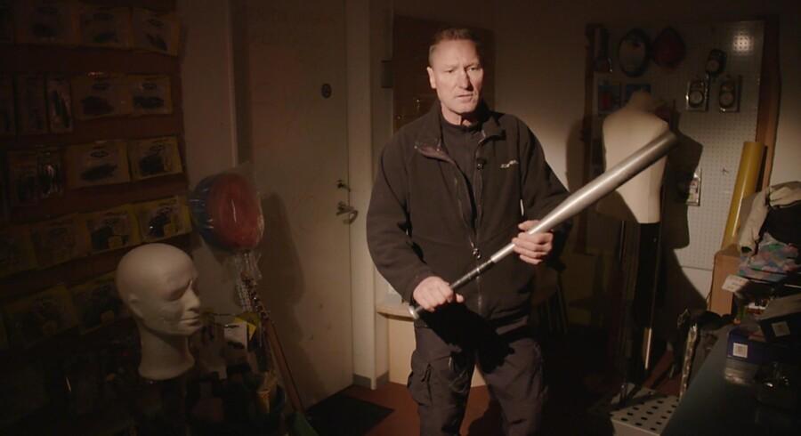 Mikael Søgaard risikerer fængsel for vold efter et indbrud i hans varelager. Pressefoto: DR