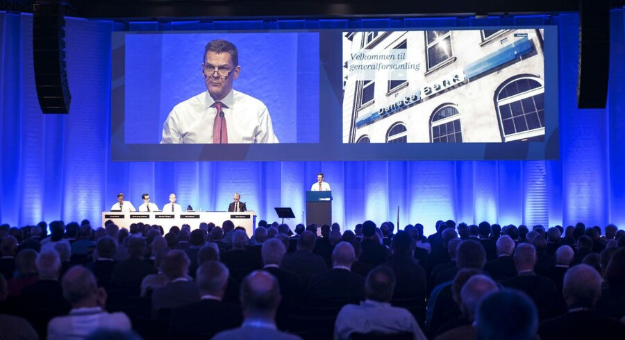 Torsdag den 16. marts 2017 holdt Danske Bank generalforsamling i Tivoli Congress Center. På billedet: formand Ole Andersen på talerstolen