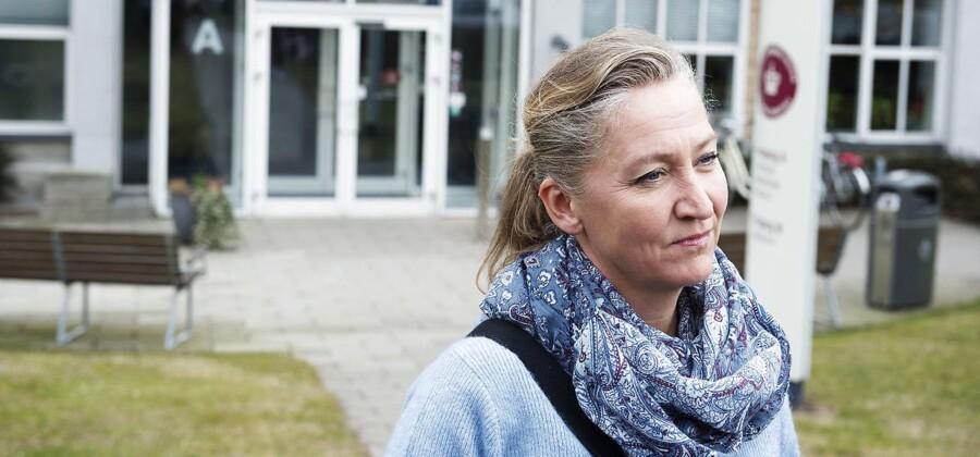 Retten i Nykøbing Falster, hvor Lisbeth Zornig Andersen og hendes mand Michael Rauno Lindholm blev dømt for menneksesmugling.