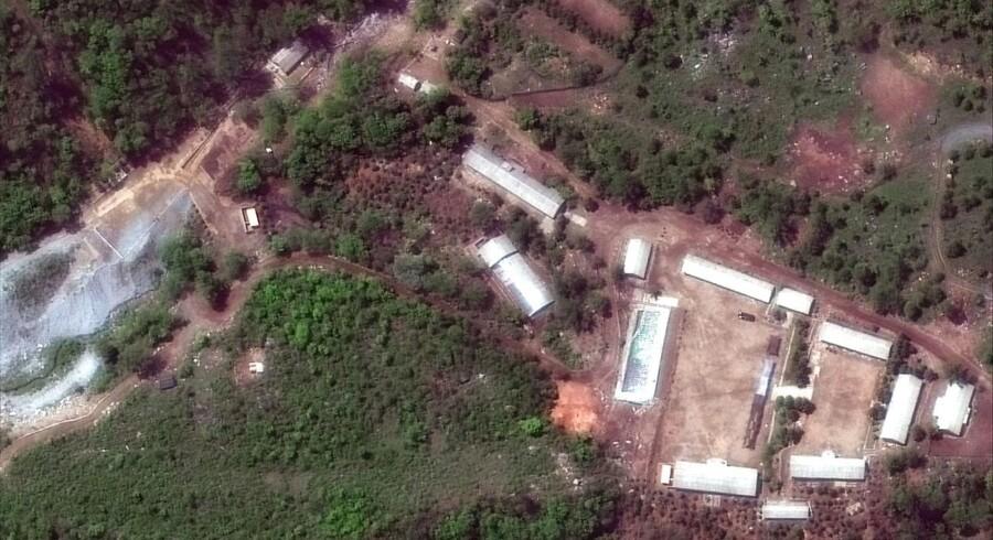 Et satellitfoto giver et overblik over atomanlægget ved Punggye-ri.