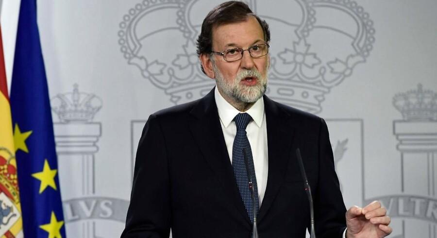 Arkivfoto. Spaniens regeringschef, Mariano Rajoy, har indkaldt ministre til krisedrøftelser om situationen i Catalonien.
