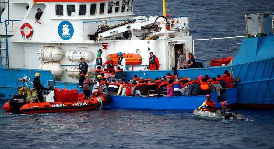 Ifølge Den Internationale Organisation for Migration (IOM) blev der i 2017 meldt 3116 personer savnet eller omkommet på Middelhavet i forbindelse med migrantskibene. Arkivfoto. (Foto: STEFANO RELLANDINI/Scanpix 2017)