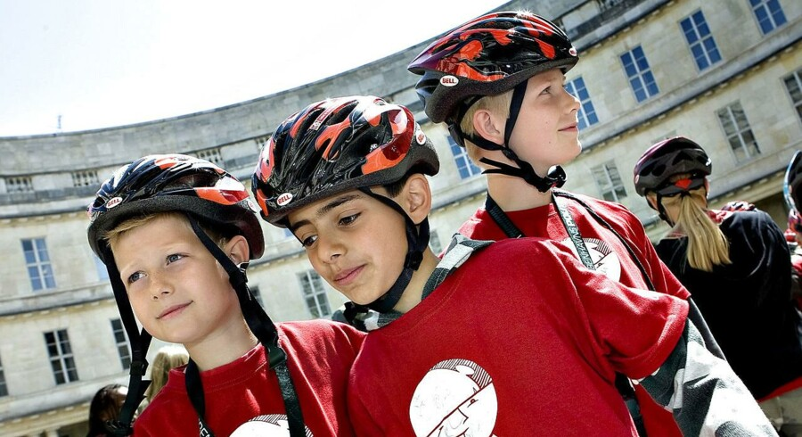 Arkivfoto: De unge over 12 år er blevet bedre til at huske cykelhjelmen, viser nye tal fra Rådet for Sikker Trafik.