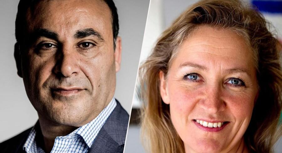Naser Khader og Lisbeth Zornig går hårdt til hinanden i debatten om flygtningesituationen.