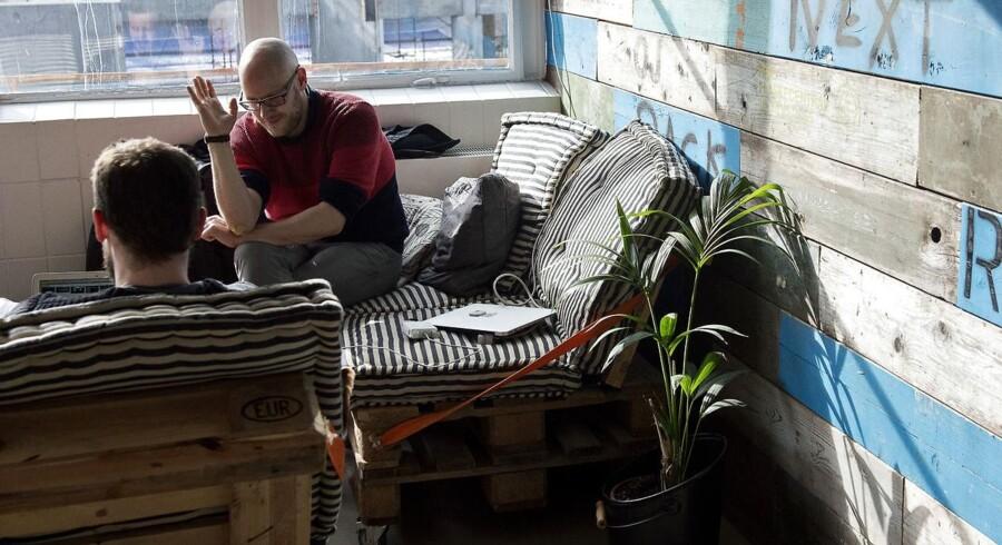 Arkivfoto: Kontorfællesskabet SOHO og iværksættercaféen NOHO. Fotograferet i Kødbyen, København tirsdag den 03. marts 2015.