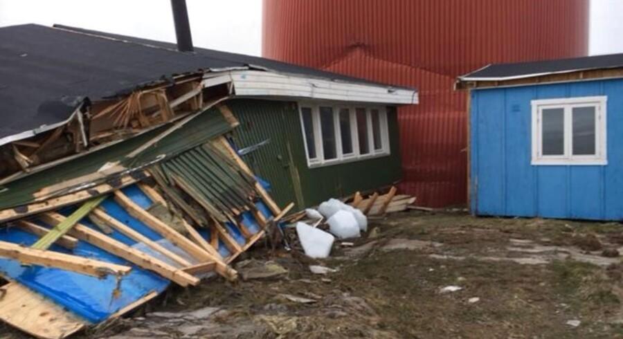 Jordskred og efterfølgende Tsunami i Grønland har skabt massive problemer og menneskeliv.